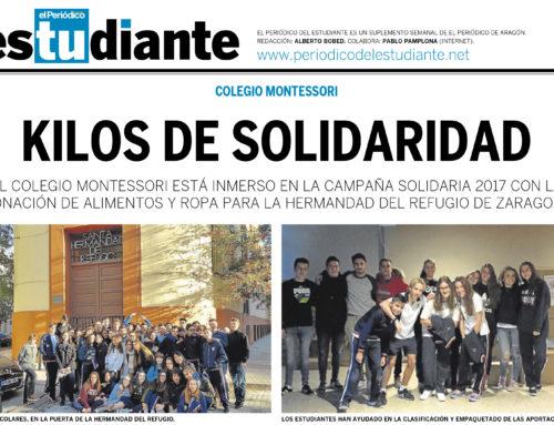 Kilos de solidaridad en Montessori