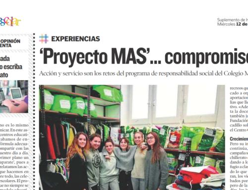 'Proyecto MAS' del Colegio Montessori en el Heraldo de Aragón