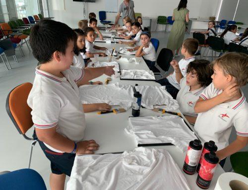 Alumnos de 3º y 4º de Primaria diseñan sus propias camisetas en IbercajaClip