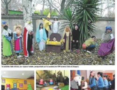 'Experiencias en Navidad' Imagen del colegio en el Heraldo