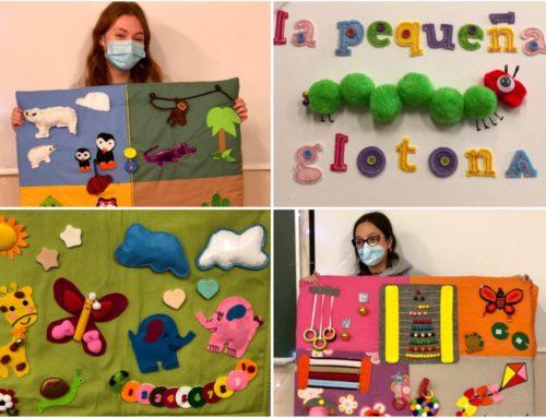 Cuentos y mantas sensoriales diseñados por el alumnado del Ciclo Superior de Educación Infantil